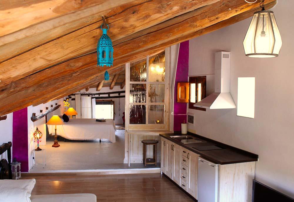 Salón cocina loft El Rincón Solariego 4