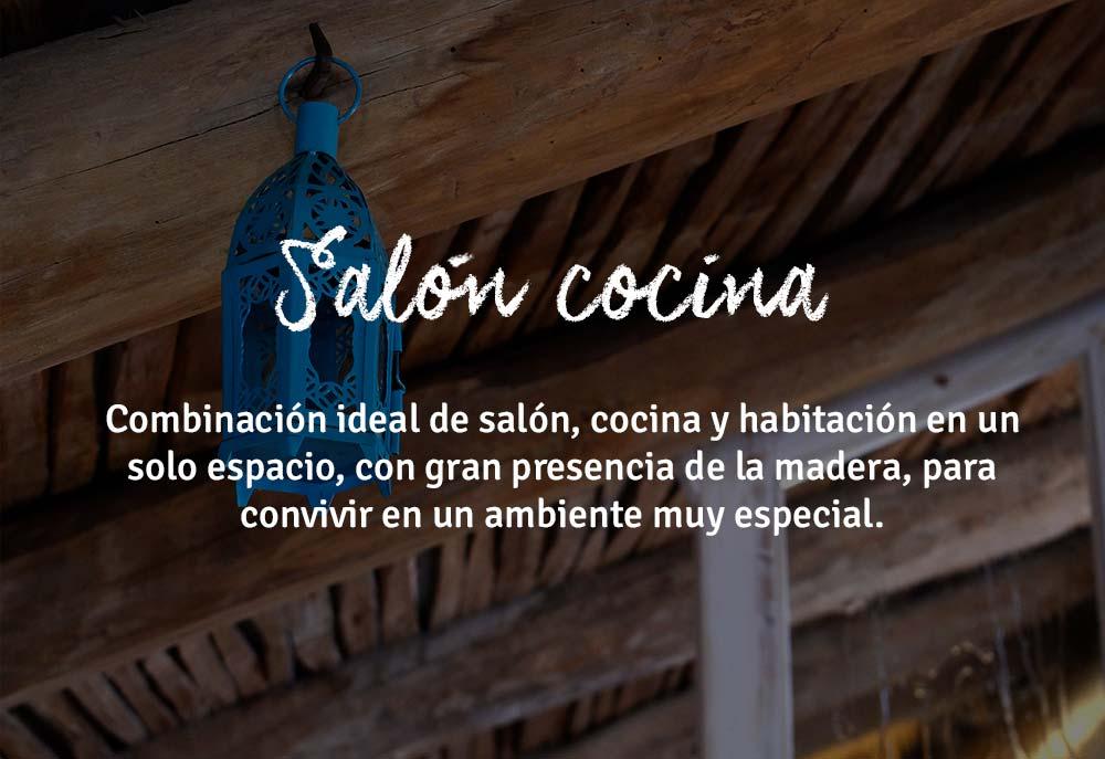 Salón cocina loft El Rincón Solariego